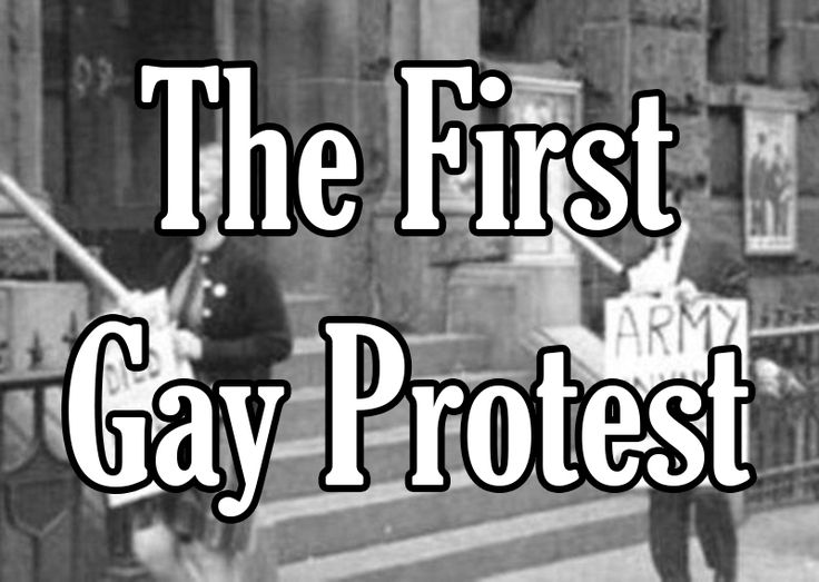Today in Gay History: The First Gay Protest | Our Queer History | Queer History