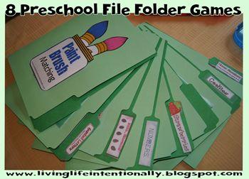 8 Preschool File Folder Games - from livinglifeintentionallyblogspot.com