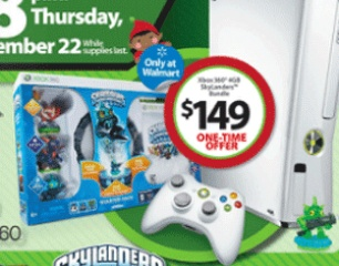 $ 149 Xbox 360 4GB Skylanders Bundle is Walmart Black Friday 2012 Ad Highlight