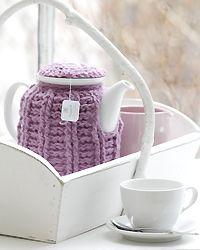 Teewärmer selbst häkeln.  Teapot cosy.
