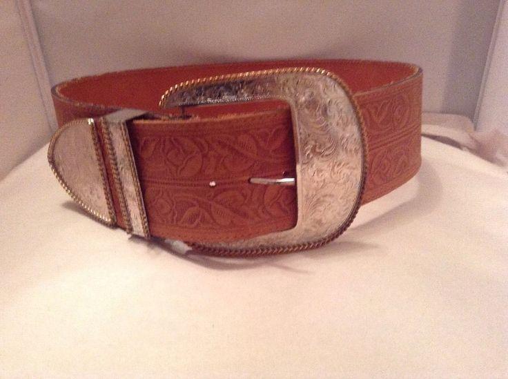 RARE NEW AL BERES U.S.A 9733 Wide Leather Belt LRG Silver Belt Buckle BEAUTIFUL #AlBeres #Western