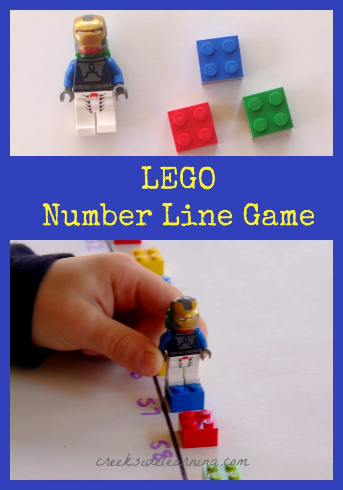 LEGO Math Games: The LEGO Number Line