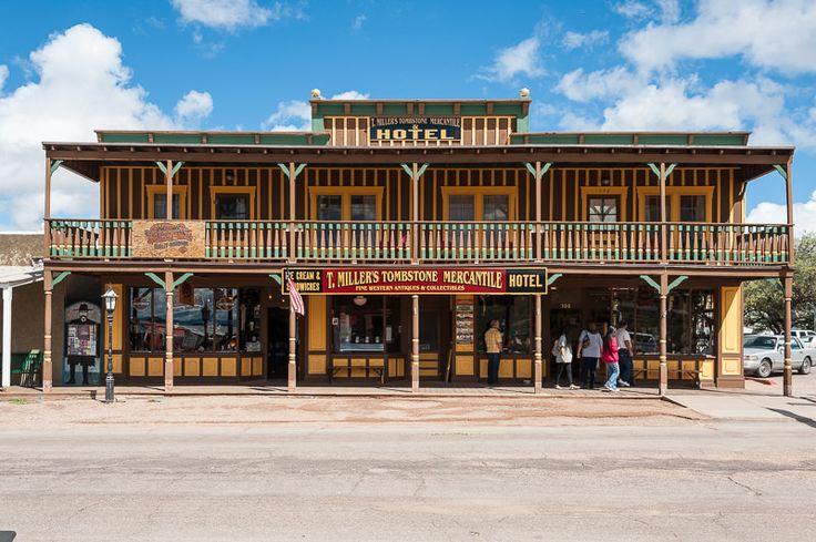 Tombstone, AZ by Jacqueline Poggi on Flickr - Historic District, E. Allen St - T. Millers Mercantile & Hotel