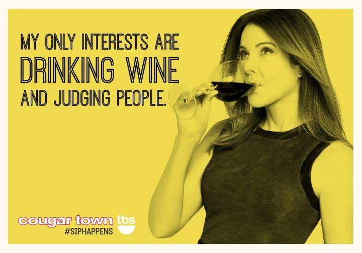 Re-pin if you and Ellie are the same person. #SipHappens #CougarTownTBS