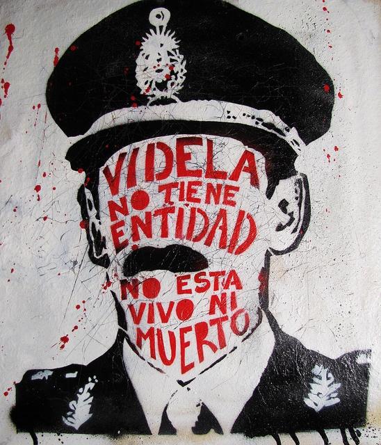 EL GENOCIDA A MUERTO - J.R. VIDELA - NUNCA MAS by NAZZA STENCIL /////