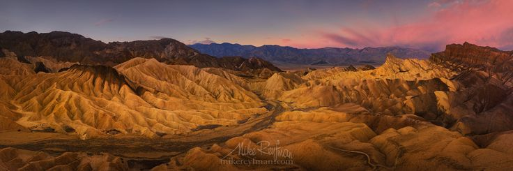 #panoramic. landscape #travel #desert #photography #mountain #usa #dawn #national park #horizontal #california #outdoors #shadow #color #image #no people #death valley national park #zabriskie point #famous place #travel destinations #scenics #beauty in na Photographer: Майк Рейфман