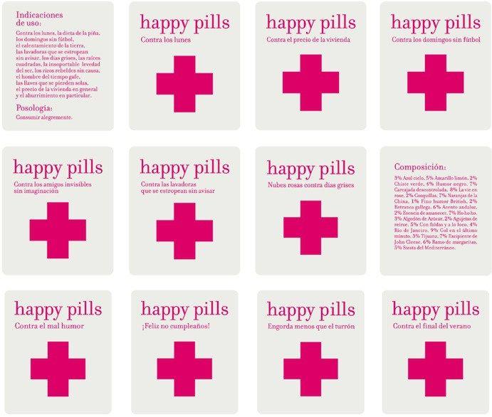 Very original pharmacy design in Spain: Happy Pills shops