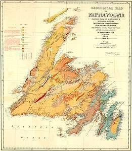 love the colors on this Newfoundland map