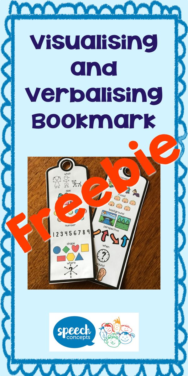 Love Visualising and Verbalising?So great for many language goals.I made this bookmark to support my students in sessions.