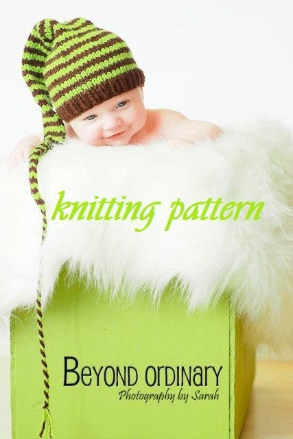 Knitting Ideas To Sell : Instant download striped pixie baby hat knitting pattern