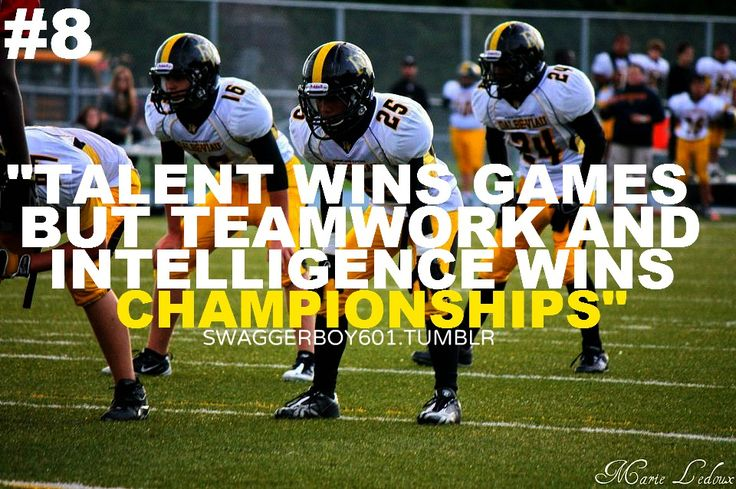 football quotes *cough cough* whs wolfpack football team.....Teamwork and defense always win games