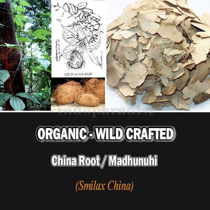 White discharge or leukorrhea in women, swellings (anti-inflammatory), removal of pus from wounds, promotion of urine (diuretic), bringing down high body temperature, removing gas (flatulence), clearing bowels, psoriasis, syphilis, leprosy, etc #SmilaxChina #ChinaRoot #driedherbs #herbalremedies #tea #herbaltea