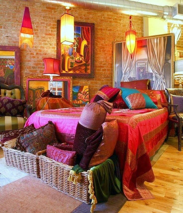 Colorful Bedroom from Bohemian Chic Decor 1411