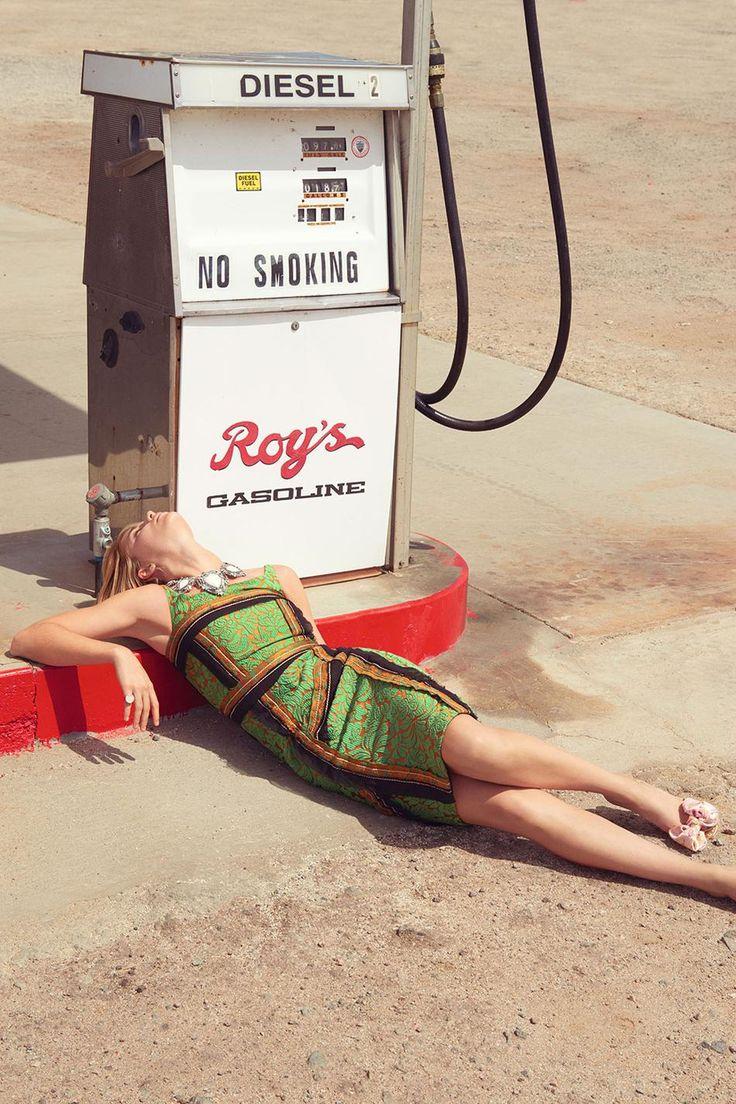 Sexy et légère : l'été de la robe | Madame Figaro France May 2015 by Kourtney Roy - PRADA Spring 2015
