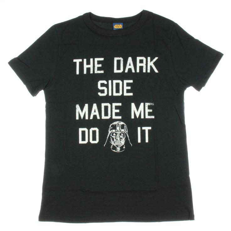 The Dark Side Made Me Darth Vader Womens T-shirt