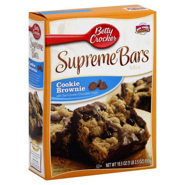 Betty Crocker Supreme Bars Mix, Cookie Brownie Image