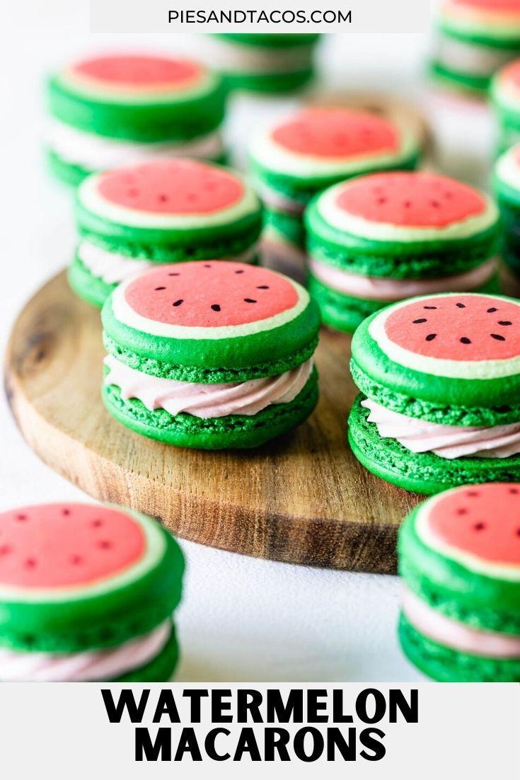 Watermelon Macarons Recipe Macaron Recipe Macarons Delicious Desserts