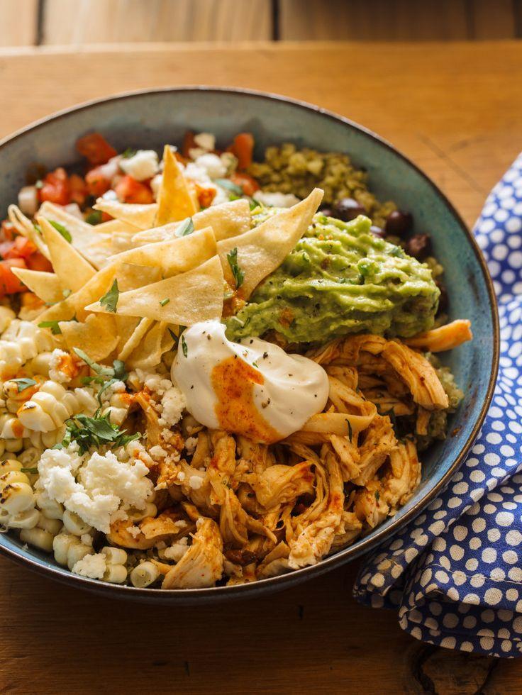 Honey-Chipotle Chicken Burrito Bowls
