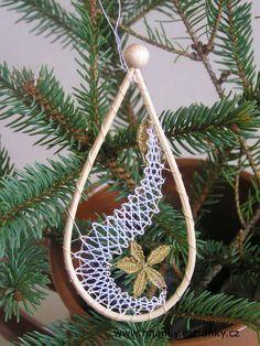Powertex, výtvarné potřeby, hobby, kufrové trhy - Fotoalbum - Paličkovaná krajka - Paličkované vánoční ozdoby