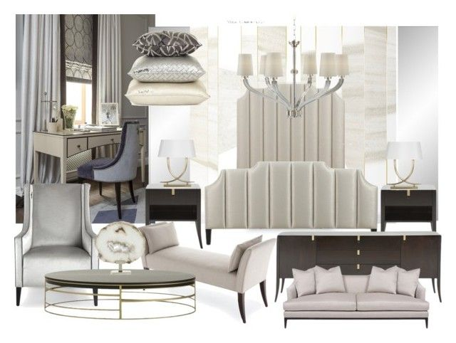 bedroom zr2 by naala-art on Polyvore featuring polyvore, interior, interiors, interior design, home, home decor, interior decorating, Visual Comfort and bedroom