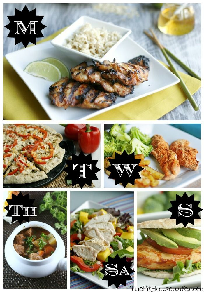 Free Weekly Meal Planner #mealplan #dinner #healthy #weightloss