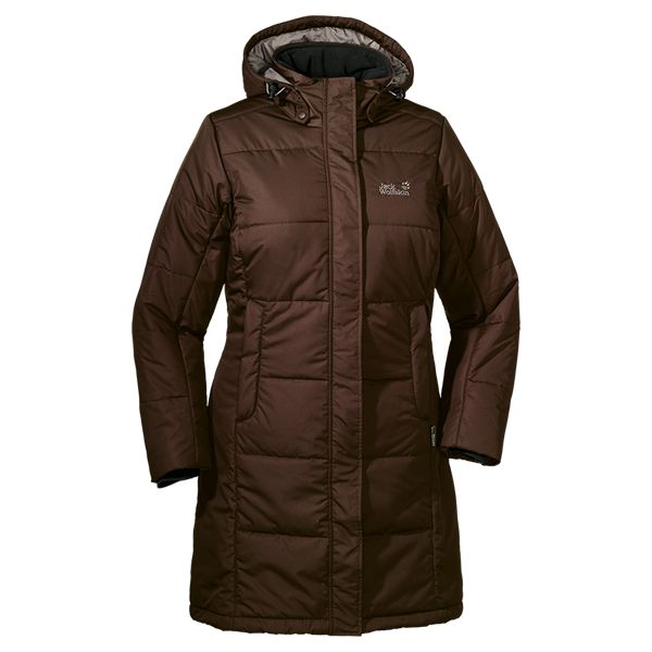 Knee-length, windproof and very warm winter coat with synthetic insulation - Coats & parkas - All jackets - Women - Apparel - Jack Wolfskin ...