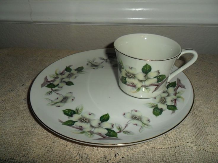 HEYGILL DOG WOOD SNACK SET SNACK PLATE AND CUP DOGWOOD BLOSSOMS GOLD TRIM & 91 best snack set images on Pinterest | Dish Dishes and Plate