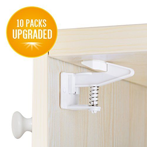 Cabinet Locks Child Safety Latches Locks,10 Packs Easy Installing Safety Cabinet Latches -No Need Tools Drilling Measuring for Drawers, Cabinets, Closets. For price & product info go to: https://all4babies.co.business/cabinet-locks-child-safety-latches-locks10-packs-easy-installing-safety-cabinet-latches-no-need-tools-drilling-measuring-for-drawers-cabinets-closets/