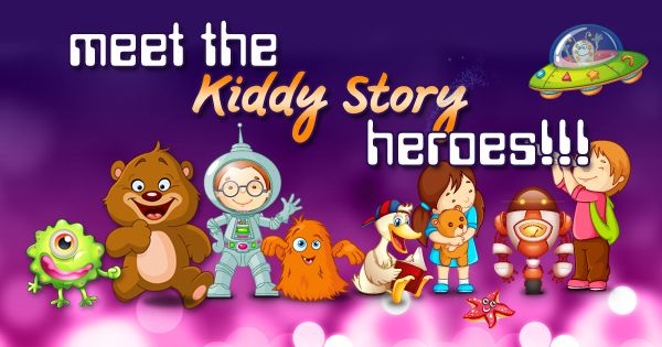 Meet the Kiddy Story heroes!  Great educational app for kids to have fun with stories: Kiddy Story Space Adventure   #KiddyStory