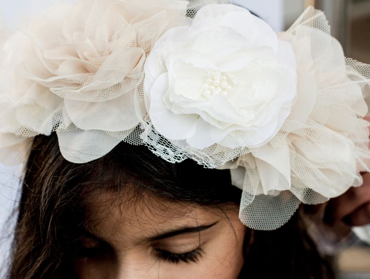 The Princess of Boho Halo - from our latest #siennalikestoparty collection.  This beautiful #flowergirl #princess.