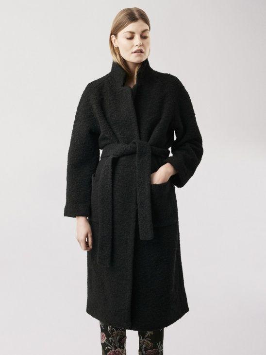 Ganni AW16 Fenn Coat Black
