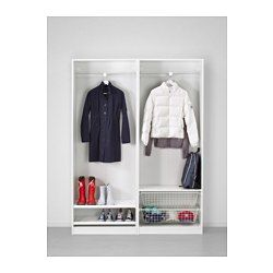 IKEA - PAX, Armario, 150x44x201 cm, , 10 años de garantía. Consulta las condiciones generales en el folleto de garantía.Utiliza la herramienta de planificación PAX para adaptar esta combinación PAX/KOMPLEMENT a tus gustos y necesidades.Al tener una estructura de poco fondo, es ideal para espacios pequeños.Las puertas correderas te dejan más sitio para poner muebles, ya que no ocupan espacio cuando están abiertas.Si quieres organizar el interior, puedes añadir los accesorios de interior de…