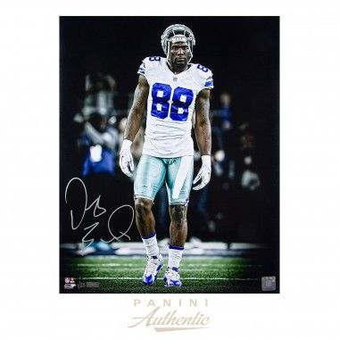 "DEZ BRYANT Autographed 16x20 ""Focus"" Photograph PANINI LE 20 - Game Day Legends"