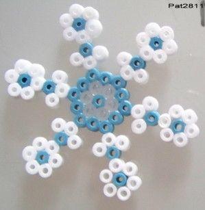 Snowflake hama perler beads by Les loisirs de Pat