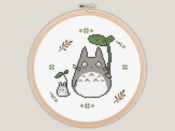 Modern My Neighbour Totoro - Ghibli Cross Stitch - PATTERN