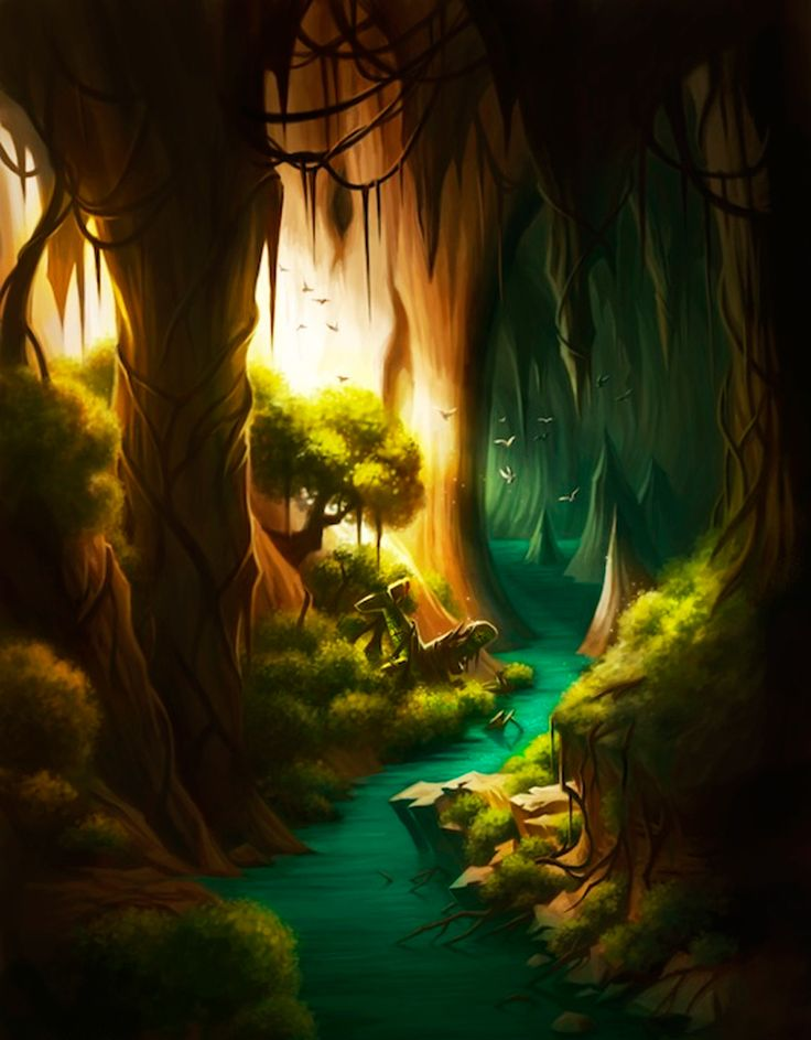 The Art Of Animation, Lora Lee cave water stream underground river Rock stone