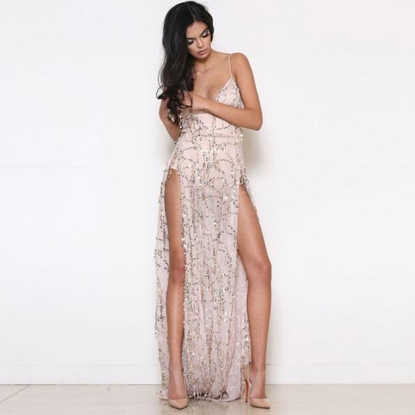Sexy sling halter dress