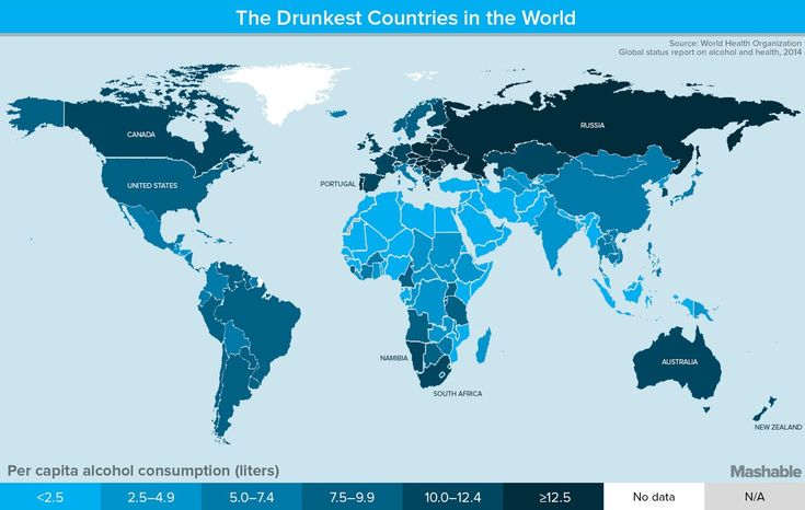 A new report from the World Health Organization shows which countries consume the most alcohol.
