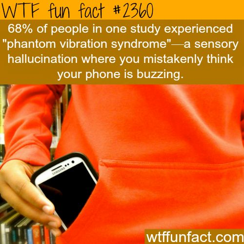 """""""Phantom Vibration Syndrome"""" Most of you have it -WTF funfacts"""