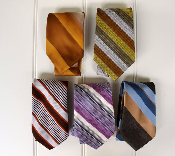 Collection of Don Loper Neck Ties  1960s  Madmen by catnapcottage