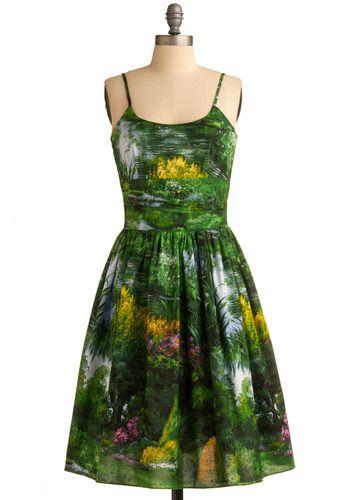 Greenery summer dress.