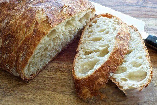 Nejjednodušší domácí chléb.Bez hnětení