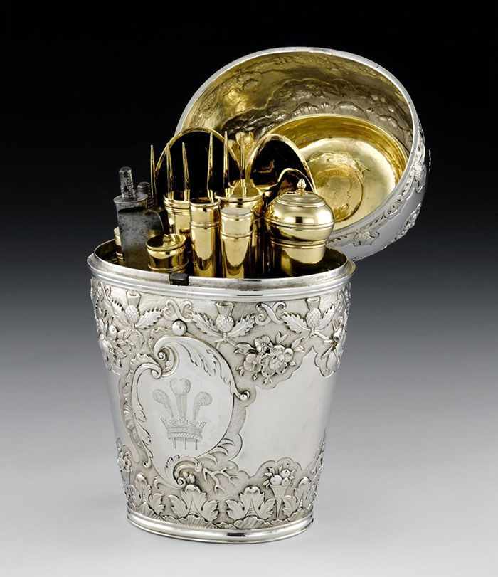 Silver Travelling Canteen By Ebenezer Oliphant Who Was A