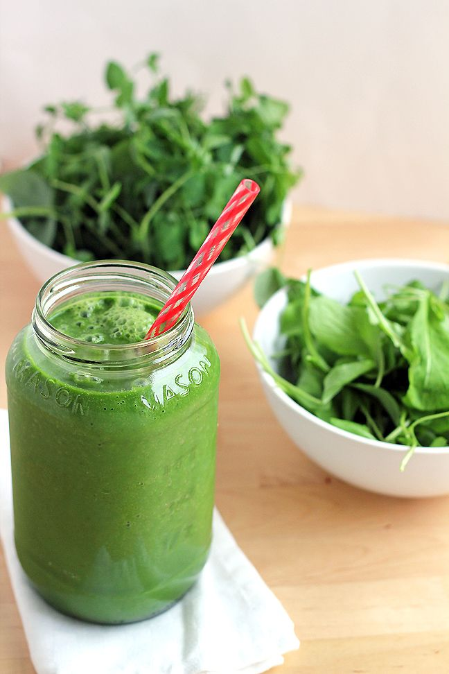 Spring Detox Smoothie - a zesty blend of spring greens, avocado, cucumber, and coconut water. No fruit!!!