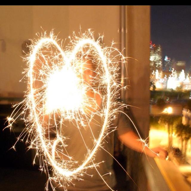 Sparkler fun!
