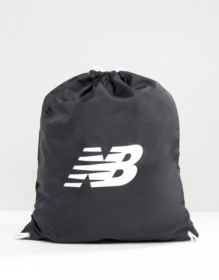 Get this New Balance's backpack now! Click for more details. Worldwide shipping. New Balance Gymsack In Black - Black: Gym b ag by New Balance, Nylon fabric, Drawstring opening, Branded design, Wipe clean, 100% Nylon.  (mochila, backpack, rucksack, backpacks, mochila, mochilas, petates, petate, body pack, cross-body pack, waist pack, rucksack, mochila, sac à dos, zaino)