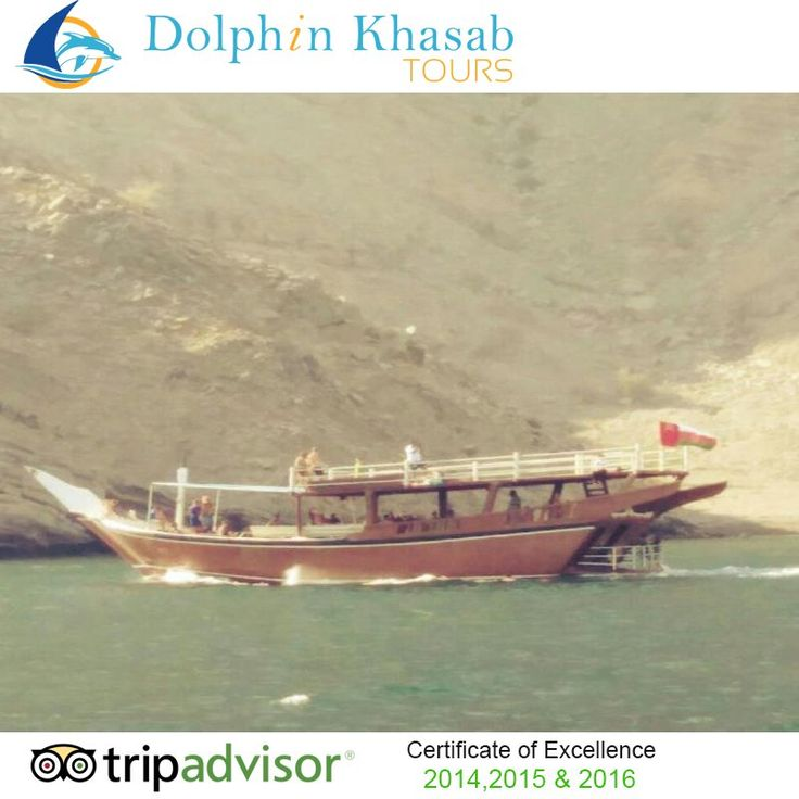 Keep Calm and Watch #Dolphins Playing Near the #Dhow. #Musandam #Khasab, #Tours