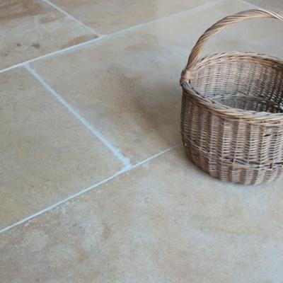 Limestone flagstone flooring