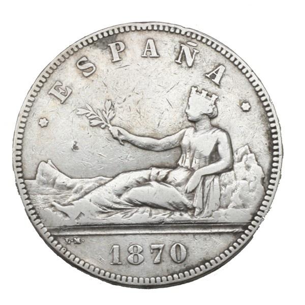 5 Pesetas 1870, el duro del Gobierno provisional #monedas