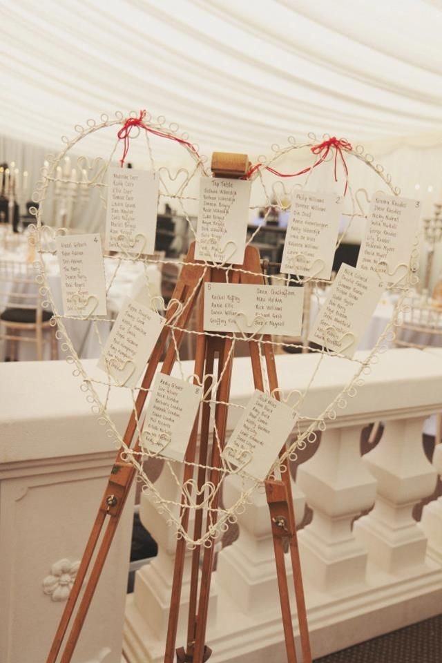 A heart seating plan just like ours ~ click through to reach our blog!